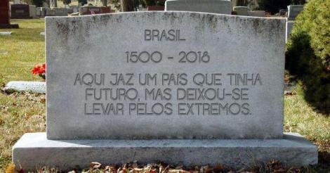 Triste fim de um país chamadoBrasil
